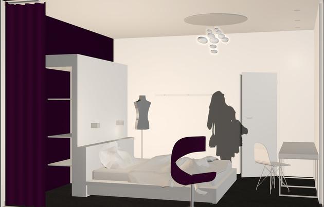 Verena poschner architektur design hotelzimmer for Hotelzimmer design